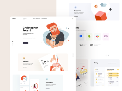 Cris | Freelancer Portfolio app ui website branding ui creative personal logo illustration portfolio freelancer