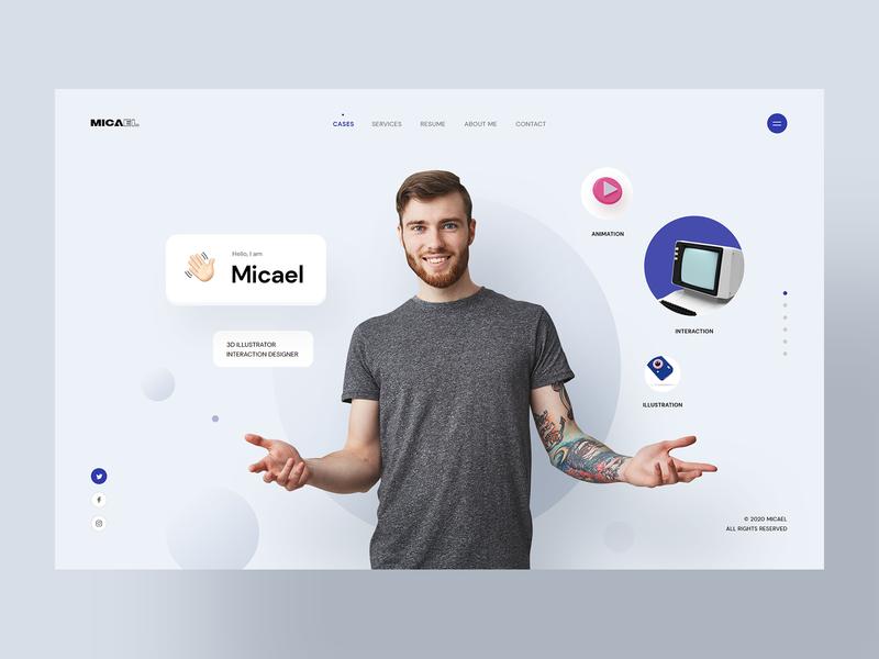 Micael - Personal CV/Resume Site