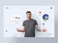 Micael - Personal CV/Resume Site illustration minimalist resume clean minimal resume cv portfolio creative freelancer personal