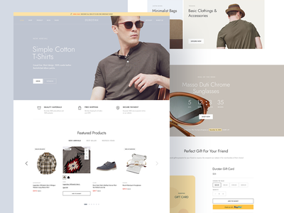 Durotan 3 - Luxury Fashion Brand Store Online shopify theme woocommerce shopify theme minimalist minimal web ui slider banner clothing fashion store ecommerce shop