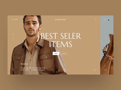 Durotan 4 - Clothes eCommerce Website hero banner slider ui theme modern minimalist minimal clothing clothes bag store shop ecommerce fashion