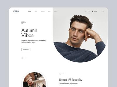 Utero - Clothing Online Store envato shopify theme woocommerce shopify geometric fashion clothes clothing store shop ecommerce minimal