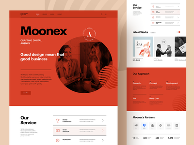 MoonexLab - Digital Agency Index web design website ui web swiss style swiss company business creative portfolio studio agency