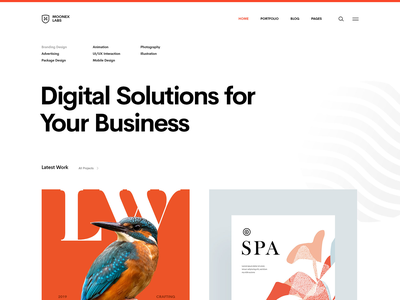ML | Simple Portfolio portfolio design envato theme interface ui website agency studio portfolio moonex