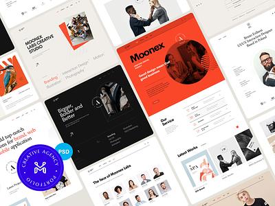 Moonex - Creative Portfolio Template wordpress theme envato minimalist dark ui swiss swiss style designer developer freelancer studio agency portfolio ui