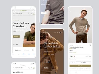 Durotan Shopify Store - Mobile Responsive elementor envato theme fashion website ui mobile store shop ecommerce minimalist woocommerce shopify
