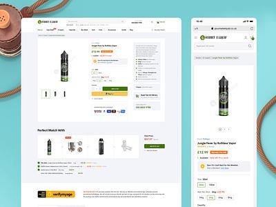 Gourmet E-Liquid Shopify Store   Product Page Desktop & Mobile uk vaping responsive mobile desktop product page ecommerce shop shopify eliquid gourmet