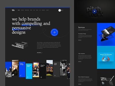 Pitchworx - Creative Agency Redesign pitchworx presentation pitch graphic digital website dark portfolio creative agency studio agency