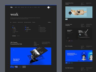 Pitchworx - Works/Portfolio Page presentation ui dark agency portfolio works ui dark website redesign pitchworx