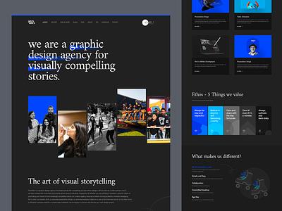 Pitchworx - About/Company Page values culture ui website dark studio agency portfolio pitchworx about page company page about us about
