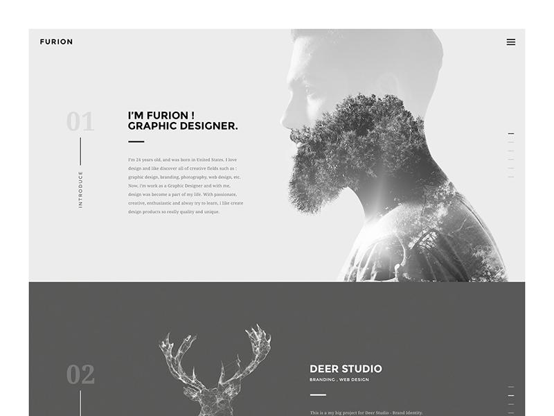 Furion - Freelancer Portfolio agency envato personal theme wordpress homepage simple portfolio freelancer web minimal creative site
