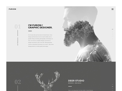 Furion - Freelancer Portfolio agency envato personal theme wordpress homepage simple portfolio freelancer web minimal creative site