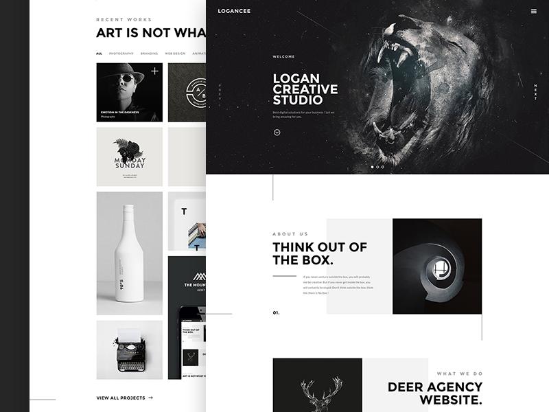 Logancee Studio studio web site design corporate agency portfolio creative
