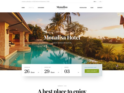 Monalisa Hotel Site reservation room resort theme booking site hotel