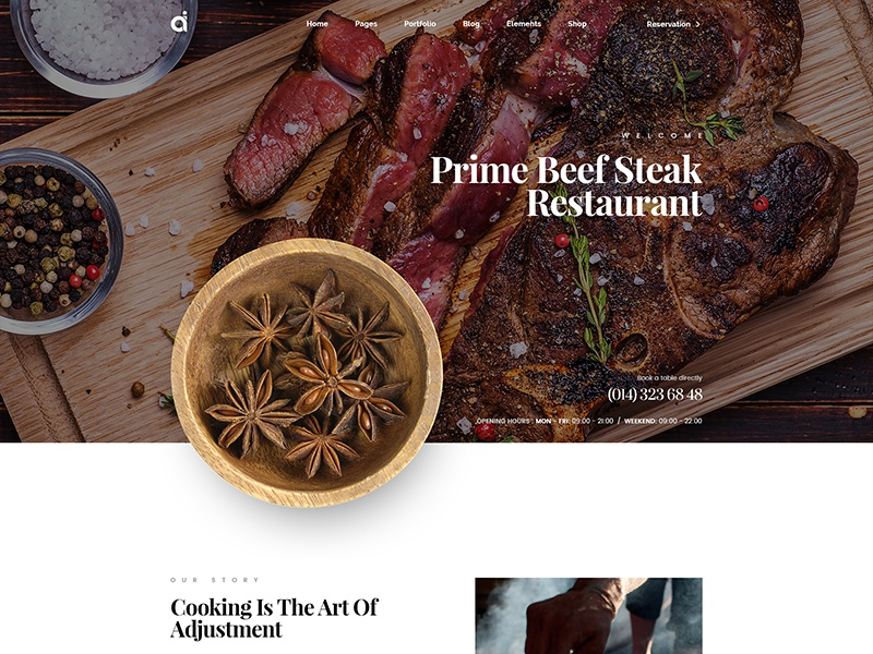 Restaurant Website cooking theme food cafe bistro site restaurant