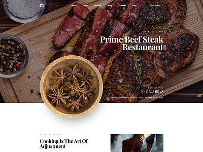 Restaurant Website cooking theme food cafe bistro site restaurant