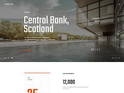 Arquito - Architecture Firm Main Page envato psd template wordpress theme firm interior architecture architect