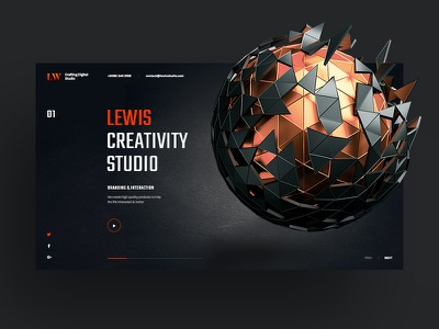 Lewis Studio envato tempate theme creative site web agency studio parallax portfolio