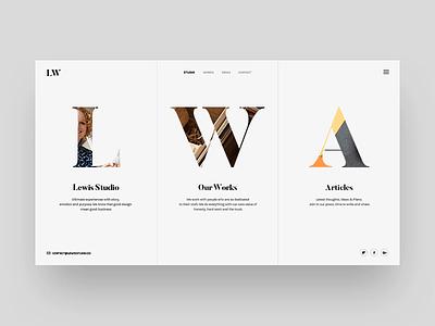 Lewis Minimalist Concept modern simple minimalist parallax themeforest envato theme design site web freelance studio agency portfolio