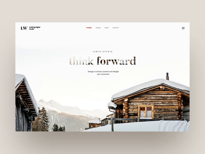 Lewis - Zoom Parallax Hero Banner landscape winter natural animation parallax themeforest envatomarket envato agency creative portfolio theme site