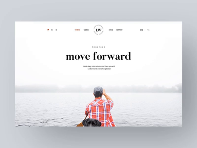 LW - 3D Motion Hero Banner ui sailing board slider banner site web themeforest envato theme creative agency portfolio lewis