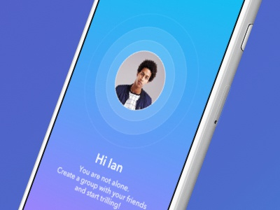 Launch screen for Trill App connecting ui design