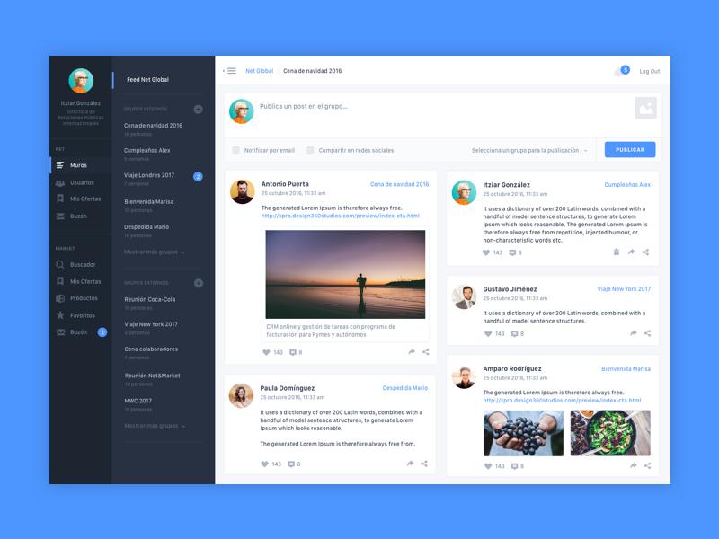 N&M Dashboard web ui design dashboard