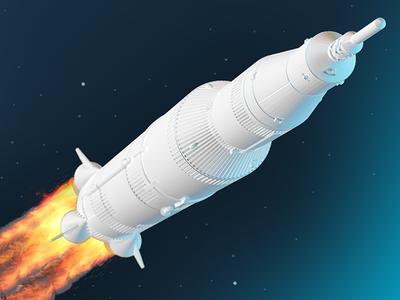 Space cowboy 3d art illustration fire rocket space