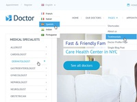 Doctor Psd Template - New Page Home