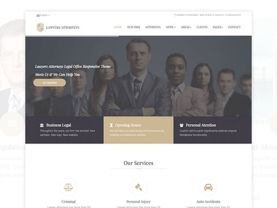 Lawyers Attorneys Legal Template