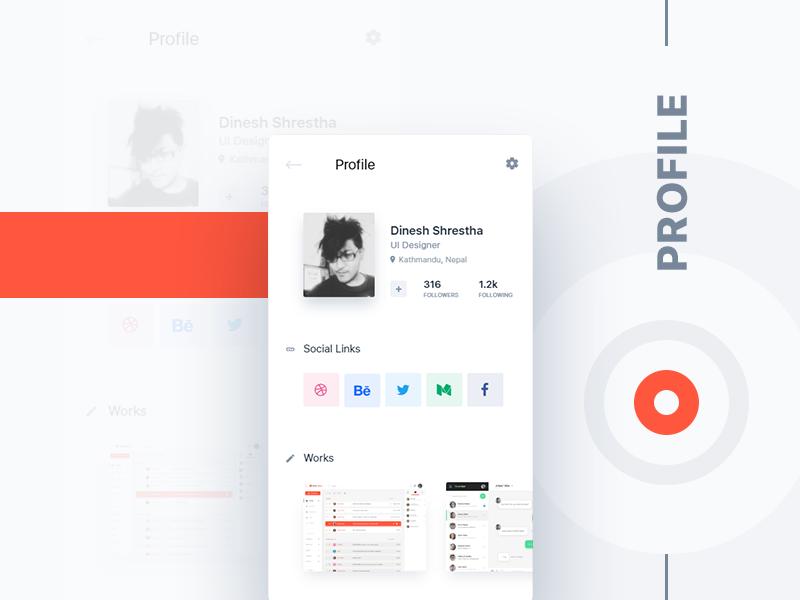 User Profile UI profile user clean minimal design app android ios ux ui