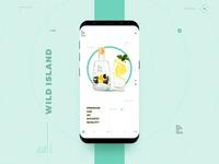 Wild Island Gin Landing Page (Mobile)