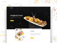 Aluma Restaurant Landing Page