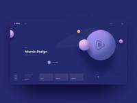 Astra Landing Page - Atomic Design