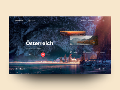 Wanderlust - Travel Landing Page austria tourism holiday travel website landing header design web ux ui