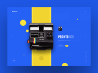 Polaroid Website Concept