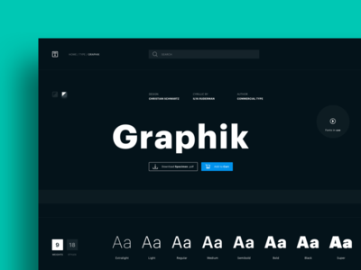 Graphik Typeface Dark