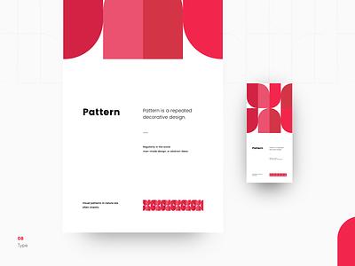 Type \ 08 - Pattern designer typografia typo poppin typeface art type art design color pattern concept editorial poster type minimal clean typography