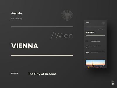 Type \ 09 - Vienna, Austria grid minimal clean design poster art typeface font austria city vienna contrast weight color size type