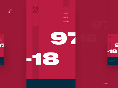 Type \ 10 - Final concept poster minimal clean fonts typography typefaces design visual exploration contrast color type