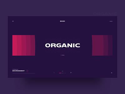 Bio20 Landing Page - Organic website landing header contrast color type concept minimal clean design web ux ui