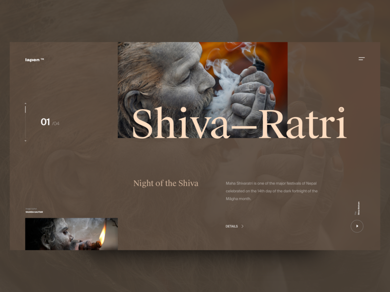 Shiva Ratri contrast color type header concept website swisstypefaces exploration layout design web ux ui