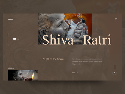 Shiva Ratri contrast color type header concept website swisstypefaces exploration layout design web ux ui