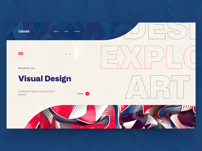 Cauas Web Layout - Visual Designs 3d website concept concept curved lines ui web design digital artwork layout design visual art design