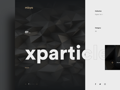 Misyo Web Layout - Digital Artworks ui web design digital art visual design 3d layout exploration web layout website design digital artwork design
