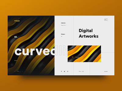Misyo Web Layout 2 ui web design website design thinking ui art web layout visual design 3d art digital art web design ux ui