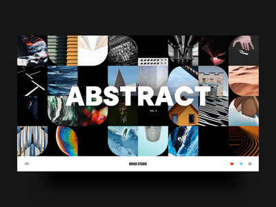 Kiriko Studio Web Layout website user interface visual design bold font abstract art imagery website concept digital design web layout art direction design