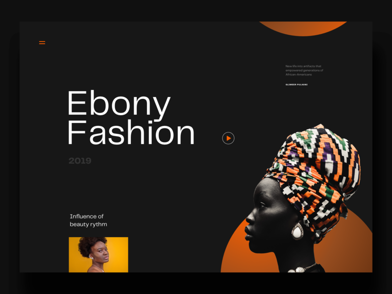 Ebony fashion website typography design ux ui minimal clean ebony fashion web desgin website web sketch