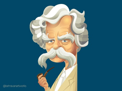 Mark Twain characterdesign writer illustartion mark twain