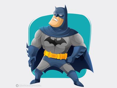 Batman fanart comic book gotham super heto batman charachter design illustration